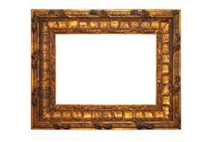 Empty picture frame. Isolated on white Royalty Free Stock Image
