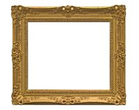 Empty picture frame ( with clipping path ). Antique empty picture frame ( with clipping path ) isolated Stock Photo