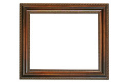 Empty picture frame ( with clipping path ). Empty picture frame,with clipping path,  inside and outside Stock Photo