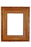 Empty picture frame ( with clipping path ). Empty picture frame, with clipping path,isolated Stock Images