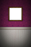 Empty picture frame on decorated wall Royalty Free Stock Images