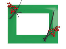 Empty picture frame isolated Royalty Free Stock Photography