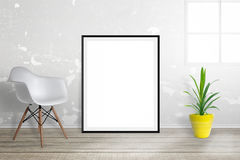 Empty picture frame for mockup Royalty Free Stock Photo