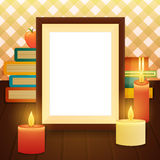 Empty picture frame on the table vector illustration