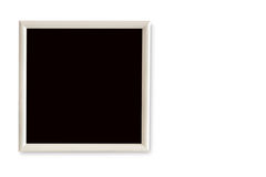 Empty picture frame on a white background. Empty blackboard on a white background Stock Photography