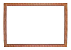 An empty picture frame on a white background. Empty relief rectangular frame for pictures on a white background royalty free illustration