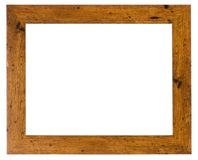 Empty picture frame in a wood grain moulding Royalty Free Stock Image