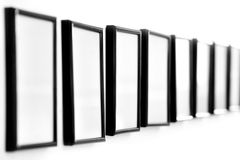 Empty picture frames Stock Image