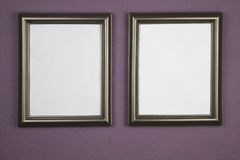 Empty picture frames Royalty Free Stock Images