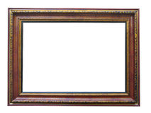 Empty picture wooden frame with pattern Stock Photos