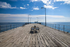 Empty pier Stock Photo
