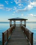 Empty Pier at Garda royalty free stock photography