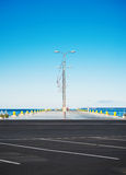 Empty pier. Royalty Free Stock Photo