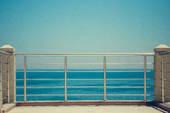 Empty pier on the sea Stock Photography