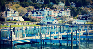 Empty Piers on Mackinac Island royalty free stock photos