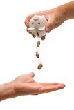 Empty the piggy bank Royalty Free Stock Photography