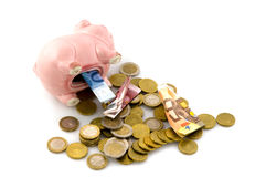 Empty the piggy bank Royalty Free Stock Image