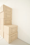 Empty pile cardboard Stock Image