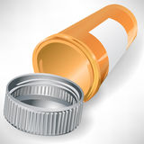 Empty pill bottle container Royalty Free Stock Photos