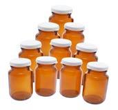 Empty Pill Bottles Stock Image