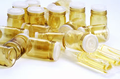 Empty pill bottles Royalty Free Stock Photos