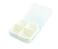 Empty pillbox isolate Stock Photo