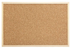 Empty pinboard. Blank pinboard isolated with clipping path Stock Photos