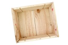 Empty Pine Box Royalty Free Stock Image