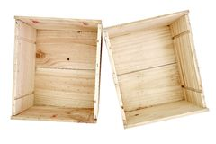 Empty Pine Box Royalty Free Stock Photos