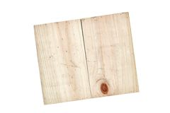 Empty Pine Box Stock Photography