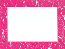Empty pink frame with white splashes Stock Images