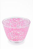 Empty pink glass bowl isolated Royalty Free Stock Photo