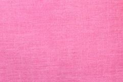 Empty pink linen fabric background. Natural linen surface. Plenty of copy space Stock Photography