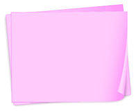 Empty pink papers Stock Images