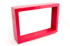 Empty pink picture frame over white Stock Photography