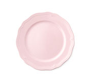 Empty Pink Porcelain Plate Royalty Free Stock Photos