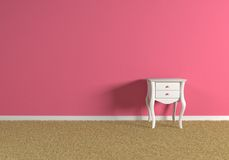 empty pink room Royalty Free Stock Image