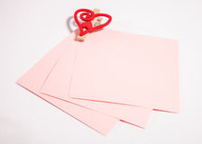 Empty pink sheets of paper Royalty Free Stock Image