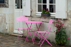 Empty pink table Royalty Free Stock Photography