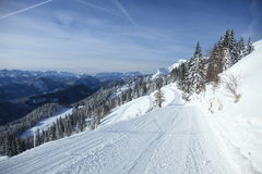 Empty piste Stock Images