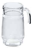 Empty pitcher for juice. On white background Royalty Free Stock Images