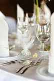 Empty place card on the festive table Stock Photography