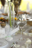 Empty place card on the festive table Royalty Free Stock Photography