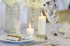 Empty place card on the  festive table Stock Images