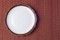 Empty Place Setting. With Brown Neutral Colors royalty free stock images