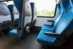 Empty places in railway wagon Royalty Free Stock Photos
