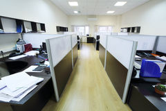 Empty places of work separated by partition Royalty Free Stock Photography