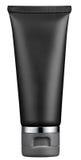 Empty plain black cosmetics tube Royalty Free Stock Photography