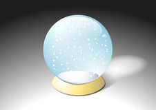 Empty plain crystal water ball snow sphere Royalty Free Stock Image