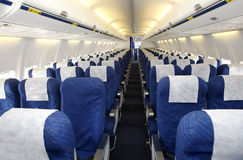 Empty Plane Interior Stock Photo
